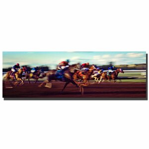 'The Race' by Preston Framed Photographic Print on Wrapped Canvas by Trademark Fine Art