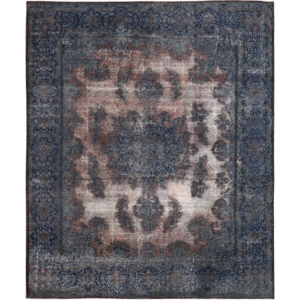Vintage Hand-Knotted Blue/Brown Area Rug by Wildon Home ®