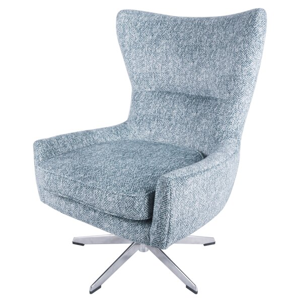 Jamie Swivel Wingback Chair by Modern Rustic Interiors