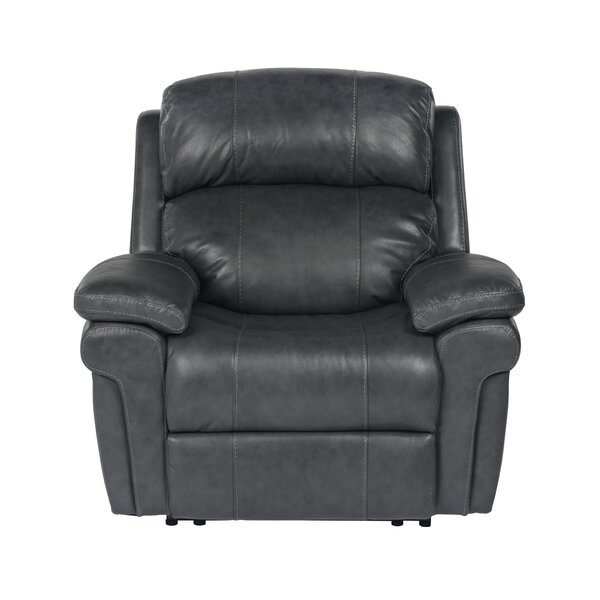 Dipaolo Luxe Leather Power Reclining Chair [Red Barrel Studio]