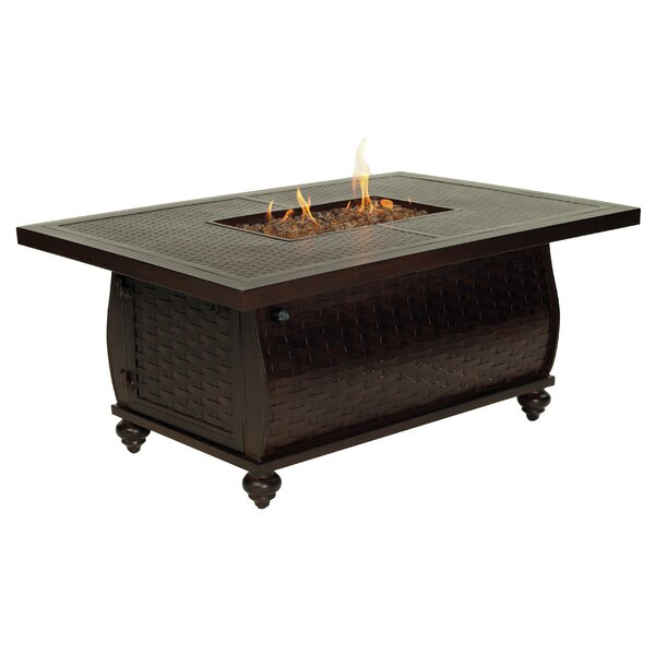 French Quarter Aluminum Propane Fire Pit Table by Leona