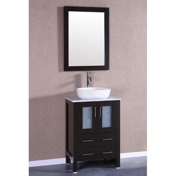Sirus 24 Single Bathroom Vanity Set with Mirror by Bosconi