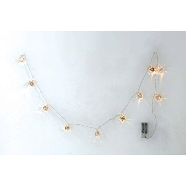 Iron LED Chain 10 Light String Light by The Holiday Aisle