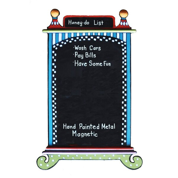 Cabinet Magnetic Free Standing Chalkboard by Golden Hill Studio