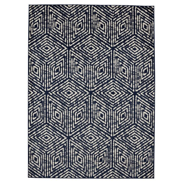 Navy Area Rug by Wrought Studio