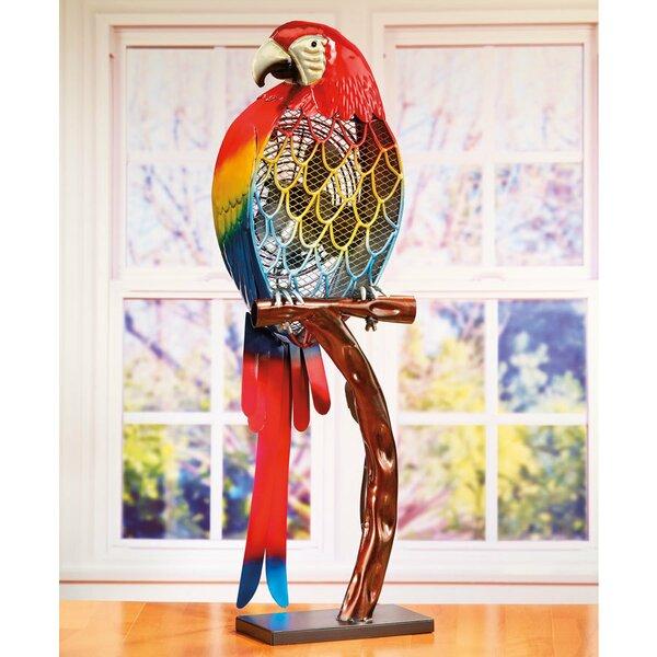 Kincade Parrot Figurine Table Fan by Bayou Breeze