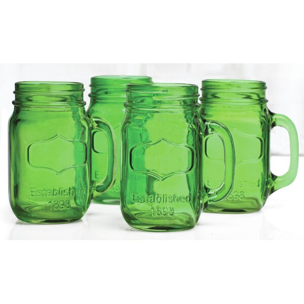 Hauptstueck 17.5 oz. Glass Mason Jar (Set of 4) by August Grove