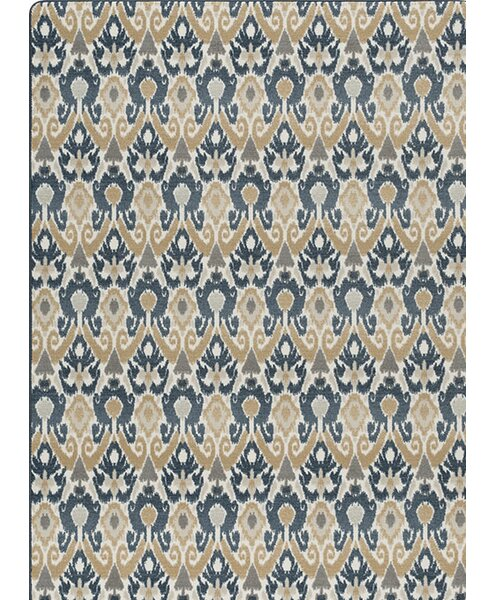 Roundtree Blue/Beige Area Rug by World Menagerie