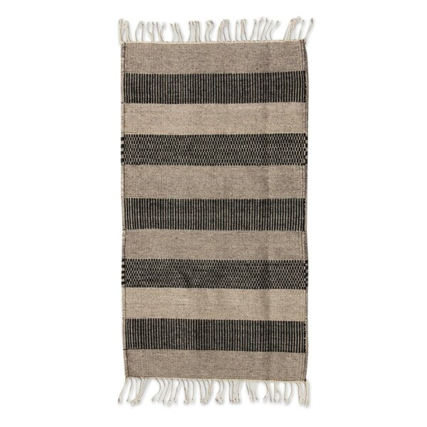 Weare Hand Woven Brown Area Rug by Millwood Pines