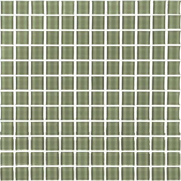Metro 1 x 1 Glass Mosaic Tile in Cream by Abolos