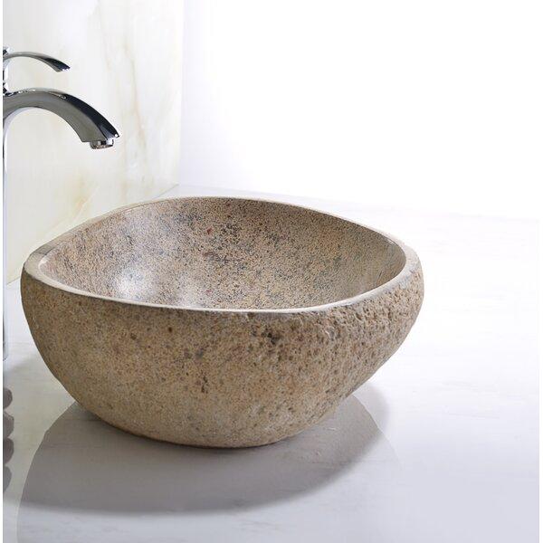 Chodola Yellow River Stone Stone Vessel Bathroom Sink