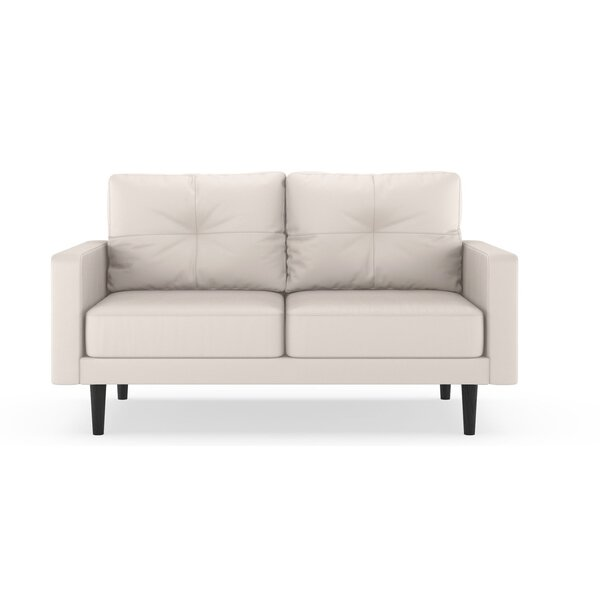 Schiavo Vegan Loveseat by Orren Ellis