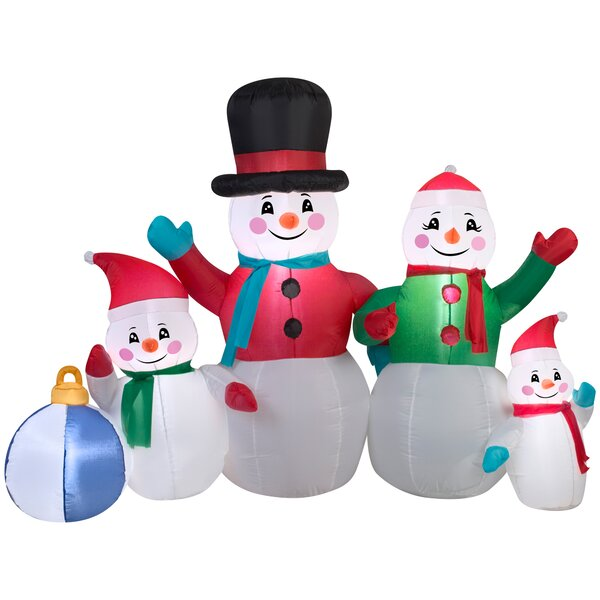 Airblown Snowman Family Collection Scene Large Inflatable by The Holiday Aisle