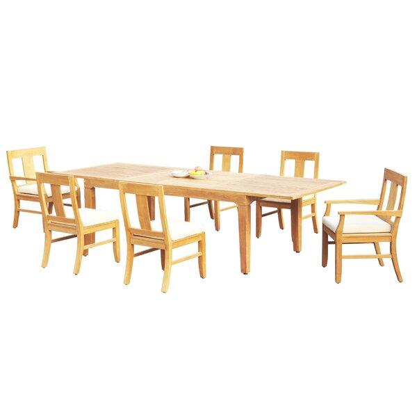 Massasoit 7 Piece Teak Dining Set by Rosecliff Heights
