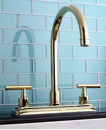 Manhattan Double Handle Kitchen Faucet by Kingston Brass