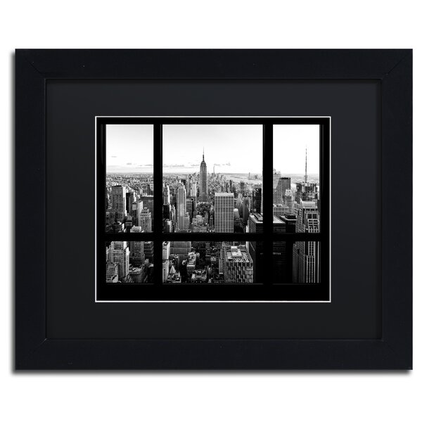 View of New York City by Philippe Hugonnard Framed Photographic Print by Trademark Fine Art