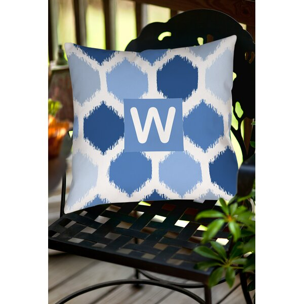 Sandell Monogram Printed Throw Pillow by Latitude Run