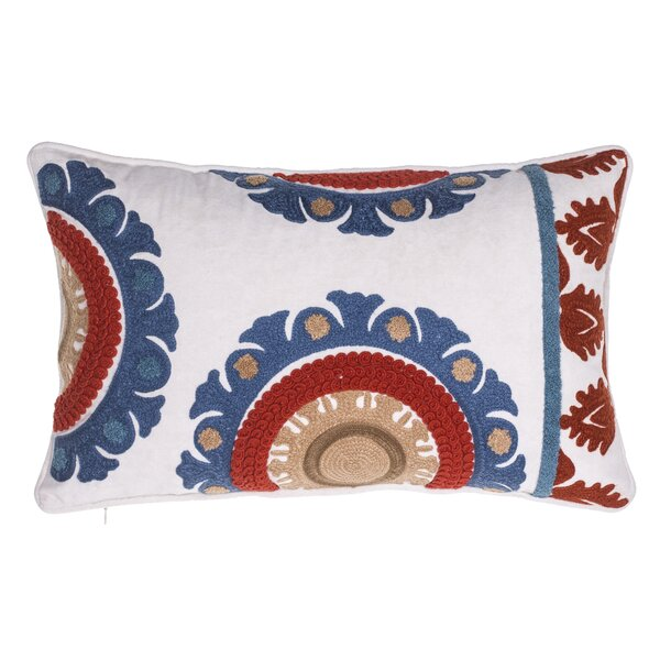Folkloric Embroidered Lumbar Pillow by 14 Karat Home Inc.
