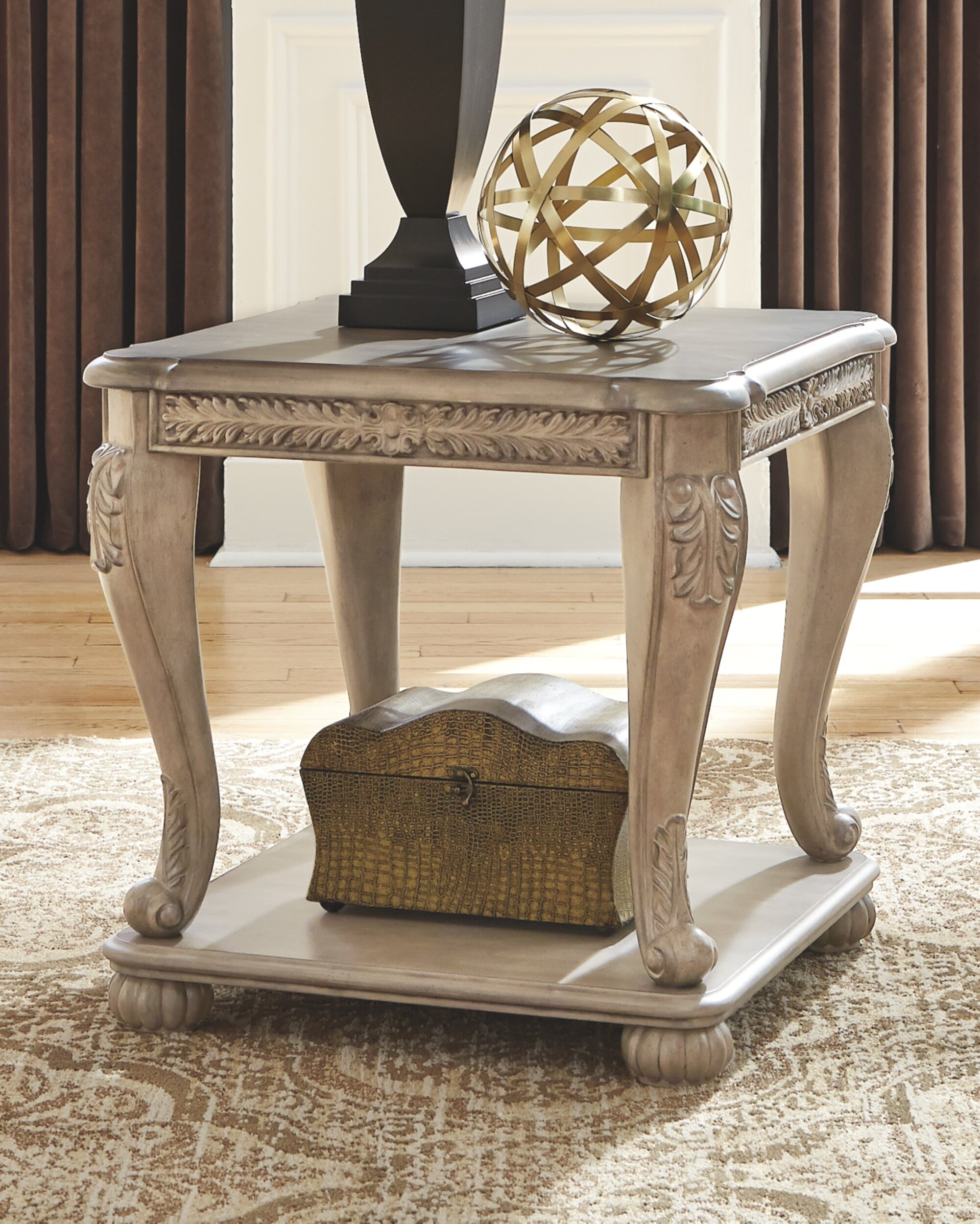 Astoria Grand Charline Floor Shelf End Table With Storage Wayfair