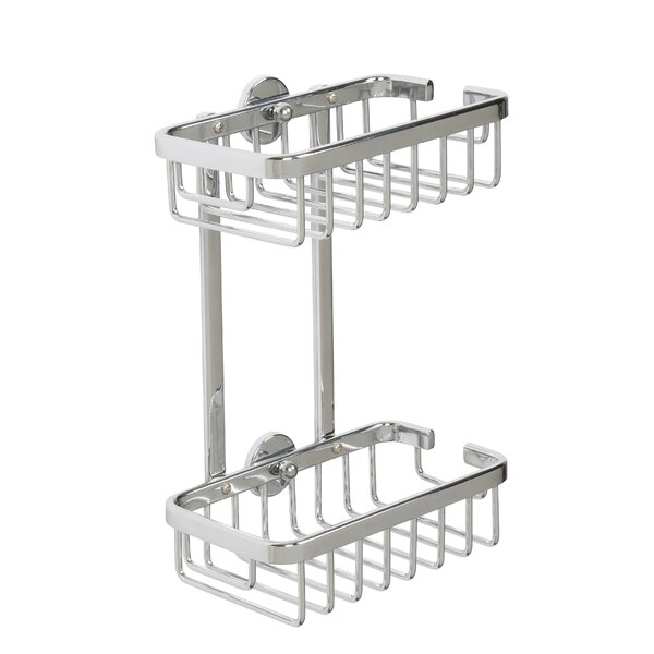 Ellenberger Aluminum 2-Tier Shower Caddy by Rebrilliant