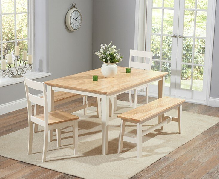 Beecher Falls Dining Set With 2 Chairs And Benches