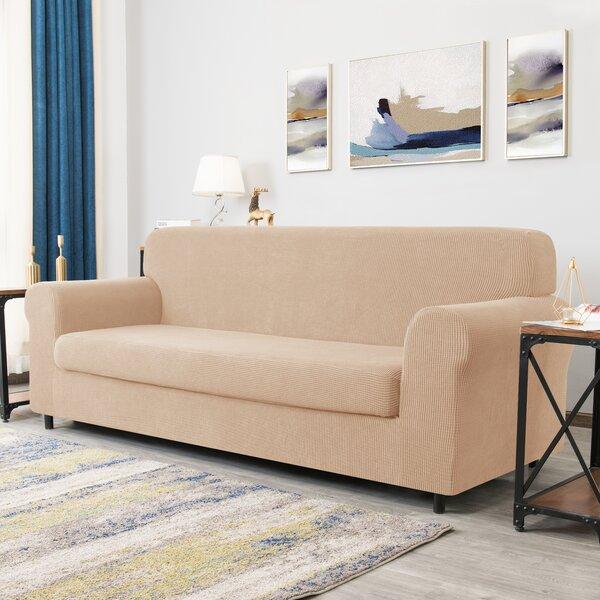 Review Dlerfeut Box Cushion Sofa Slipcover