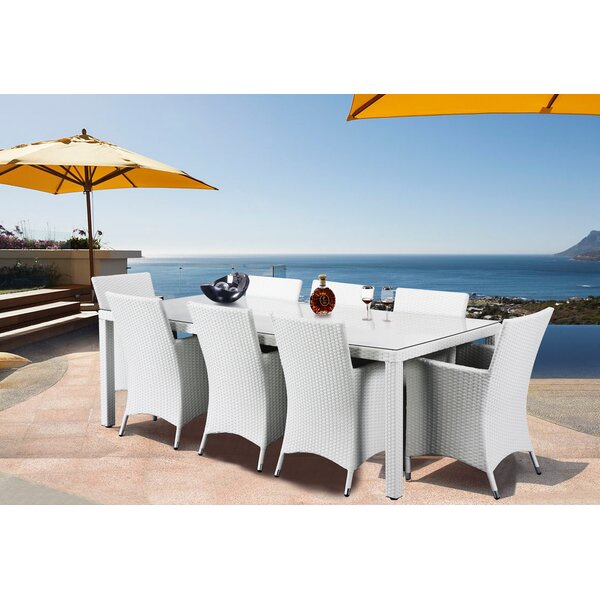 9 Piece Dining Set with Cushions by Latitude Run