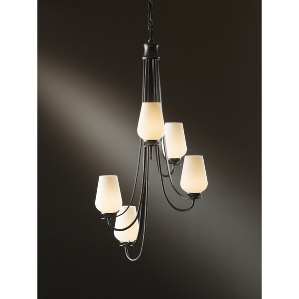 Flora 5-Light Shaded Chandelier by Hubbardton Forge