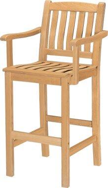 30 Teak Patio Bar Stool by HiTeak Furniture
