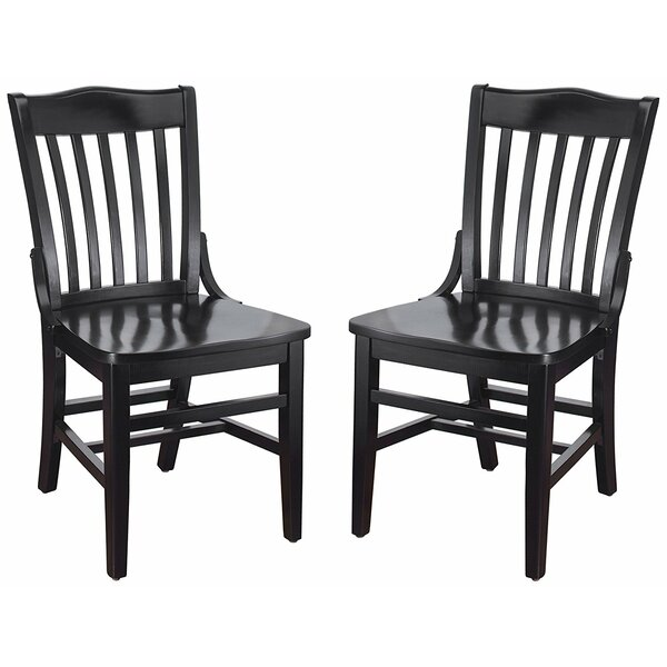Kershaw Solid Wood Dining Chair (Set of 2) by Alcott Hill