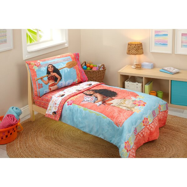 Moana 4 Piece Toddler Bedding Set by Disney