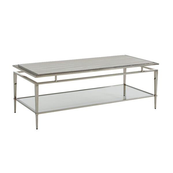 Ariana Athene Rectangular Coffee Table with Magazine Rack by Lexington