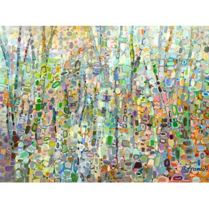 'Abstract Forest' by Angelo Franco Painting Print on Wrapped Canvas by GreenBox Art
