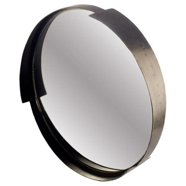 Deming Round Metal Frame Accent Wall Mirror by Mercury Row