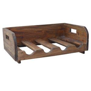 Labat Recycled Wood 4 Bottle Tabletop Wine Bottle Rack by Laurel Foundry Modern Farmhouse