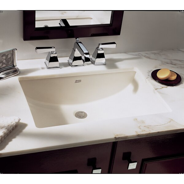 Studio Vitreous China Rectangular Undermount Bathroom Sink with Overflow by American Standard