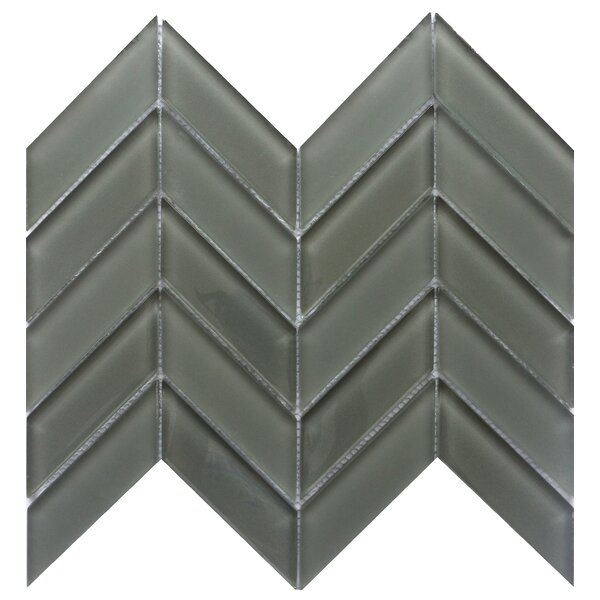 Edge 1 x 2 Glass Mosaic Tile in Pewter by Emser Tile
