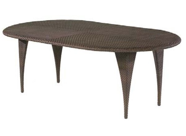 All-Weather Wicker Dining Table by Woodard