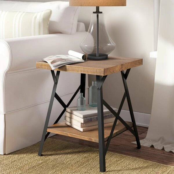 Ordway End Table with Storage by 17 Stories 17 Stories