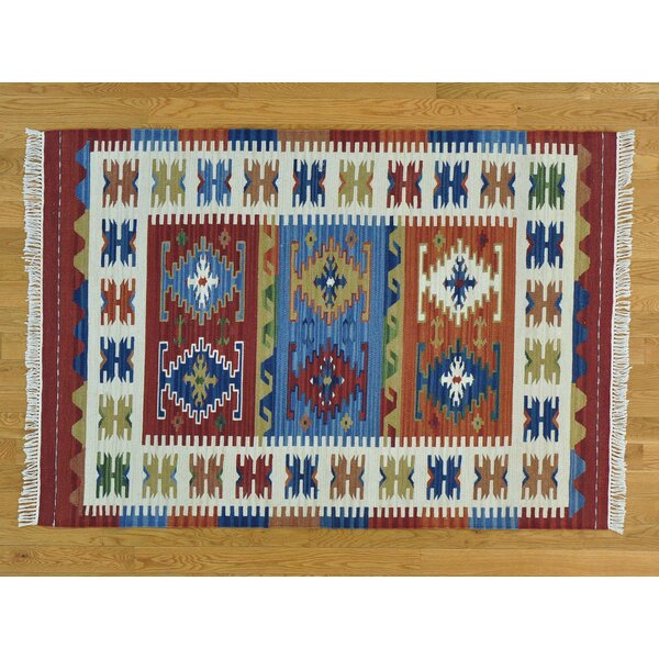 One-of-a-Kind Beebe Reversible Handmade Kilim Wool Area Rug by Isabelline