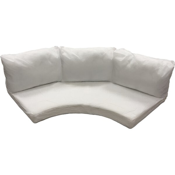 Waterbury 8 Piece Curved Armless Outdoor Cushion Set By Sol 72 Outdoor