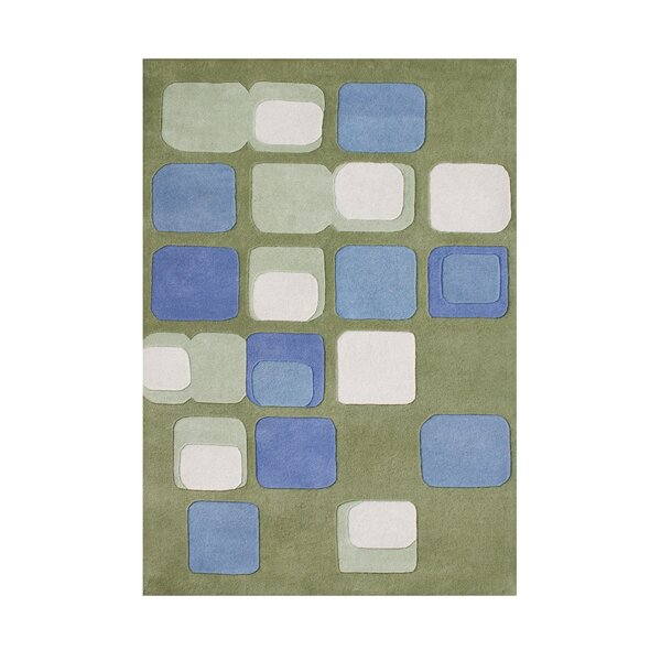Selma Hand-Tufted Green/Blue Area Rug by The Conestoga Trading Co.