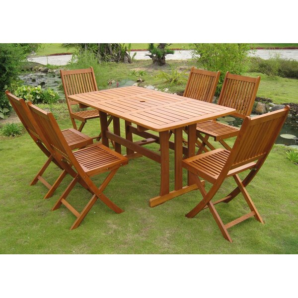 Sabbattus 7 Piece Outdoor Dining Set by Breakwater Bay