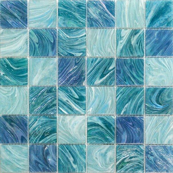 Aqua 2 x 2 Glass Mosaic Tile in Sky Blue by Splashback Tile