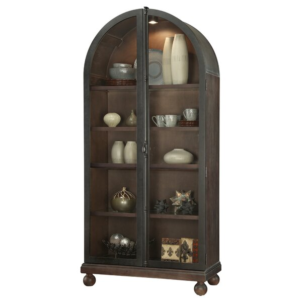Braham Lighted Curio Cabinet by Canora Grey