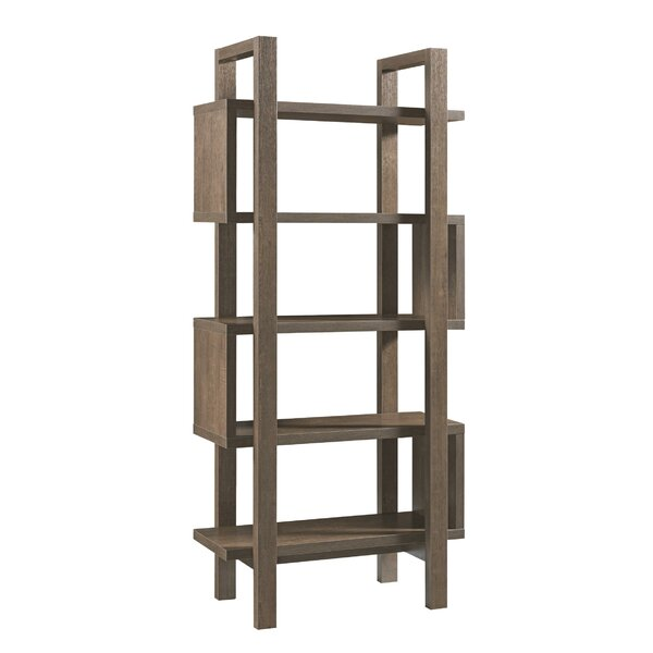 Mazzola Wooden Geometric Bookcase By Union Rustic