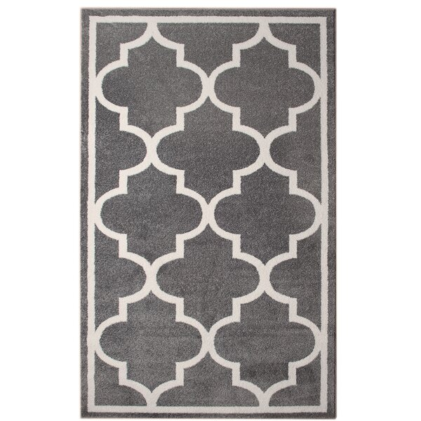 Florine Gray Area Rug by Everly Quinn