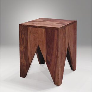 Steeley End Table with Sheesham Wood by Union Rustic