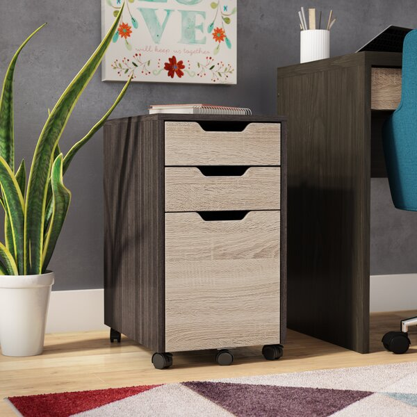 Russo 3-Drawer Mobile Vertical Filing Cabinet by Z