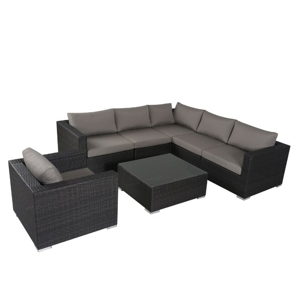 Strawn 7 Piece Sectional Set with Sunbrella Cushions by Brayden Studio